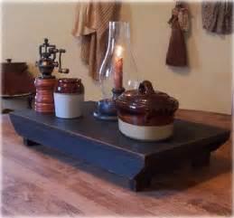 centerpiece kitchen table close: farmhouse table riser bench primitive kitchen riser handmade lamp