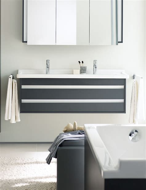 duravit ketho 1200mm 3 door mirror cabinet kt753301818 duravit ketho double drawer 1200mm vanity unit with 1300mm