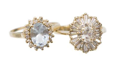 2 estate gemstone rings february