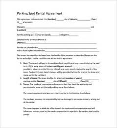 car park template sle parking lease template 9 free documents