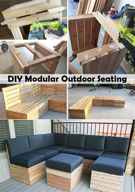diy modular outdoor seating   outdoor seating