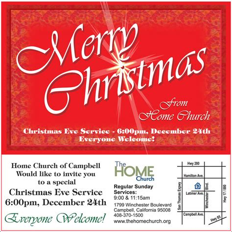 campbell s home church invites you to christmas eve