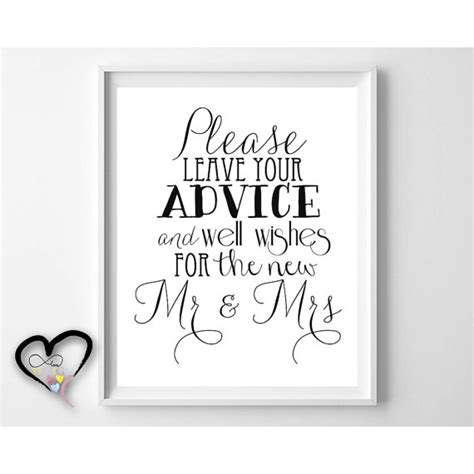 Wedding Advice And Well Wishes Cards by Wedding Advice Sign Leave Advice And Well Wishes For
