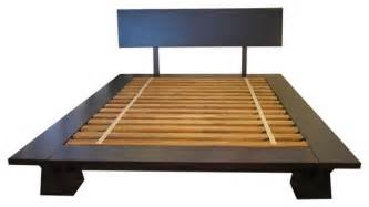 takuma platform bed walnut king asiatique lit
