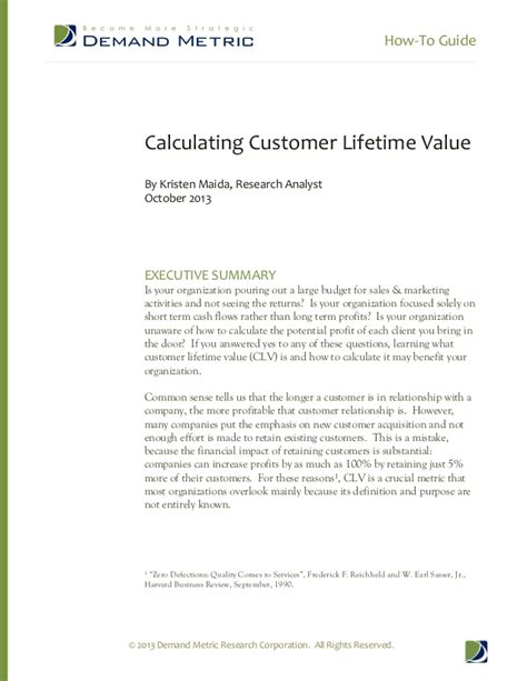 how to guide calculate customer lifetime value