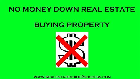 buy houses with no money down no money down real estate buying property