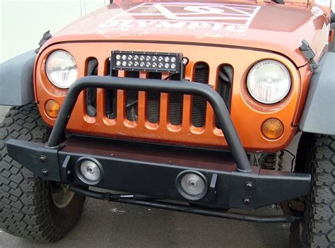 jeep light bar grill custom front bumper and led light bar of 2014 jeep