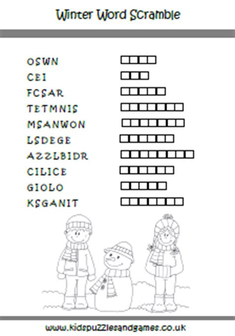12 best winter puzzles images 8 best images of winter word scramble printable free printable word scramble printable
