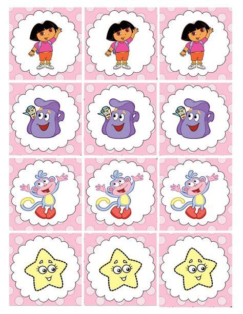 printable dora stickers measured by the heart dora party printables birthday