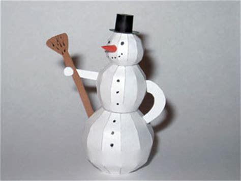 Papercraft Snowman - snowman papercraft paperkraft net free