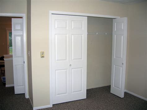 Raised Panel Bi Fold Type Closet Doors Installed These Raised Panel Closet Doors