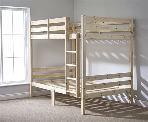 double loft beds everest 4ft small double heavy duty solid pine high bunk bed