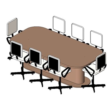 Revit Conference Table Table Conference 8 Seater 1 Free 3d Model Rfa Cgtrader