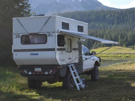rv hardtop awnings fleet flat bed model four wheel cers low profile