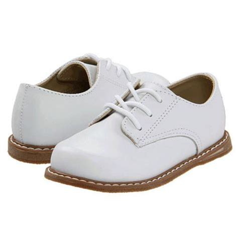 baby deer boy s white leather oxford dress shoes low top