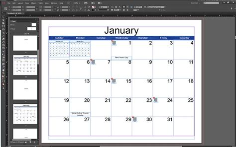 illustrator calendar template adobe indesign calendar template calendar template 2016