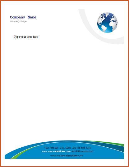 Microsoft Business Letterhead Templates 8 Word Letterhead Template Bookletemplate Org