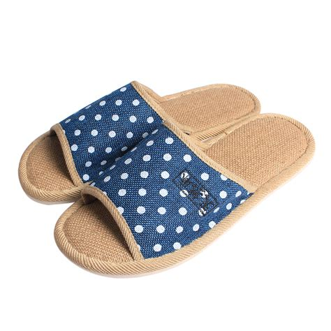 house and bedroom slippers for men large size summer house indoor slipper for men healthy linen male bedroom slipper in