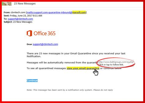 Office 365 Email Office 365 Email Scam Cbm Technology
