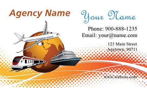 free business card templates for travel agency ship airplane travel agency business card design