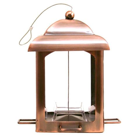 Copper Bird Feeders Pet Antique Copper Chalet Bird Feeder 365 The Home
