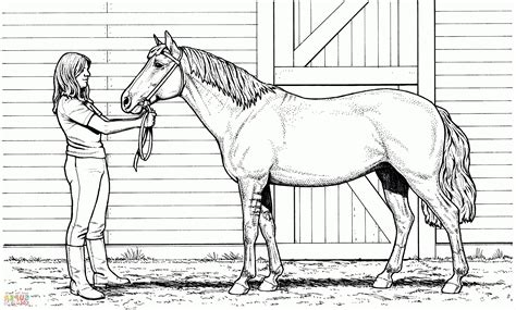 horse  stable coloring page pony horse coloring pages