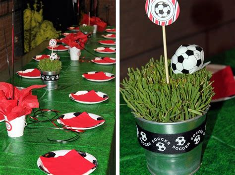 101 Best Images About Soccer Birthday Party On Pinterest Soccer Banquet Centerpiece Ideas