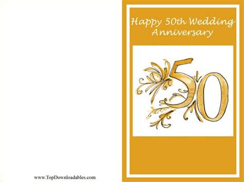 50th wedding anniversary card templates 7 best images of anniversary card free printable template