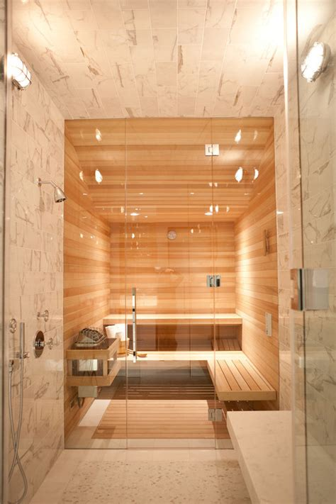 Interior Design Bathroom Ideas 10 Homes With Saunas That Will Instantly Relax You Photos