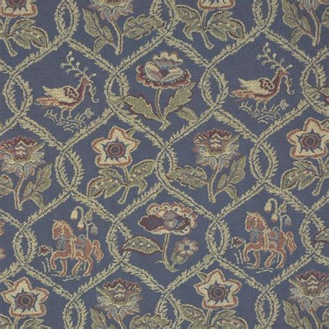 horse upholstery fabric 2 colors chessington tapestry blue or green horse bird
