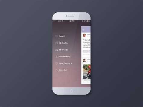 design application menu 30 brilliant mobile navigation menu design concepts web