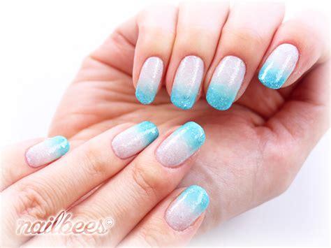 easy nail art gradient blue nail designs nailbees