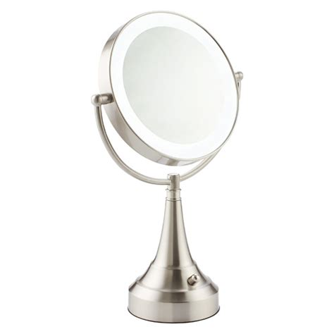 swivel mirror bathroom swivel led makeup mirror the container store