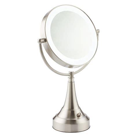bathroom swivel mirror swivel led mirror the container store