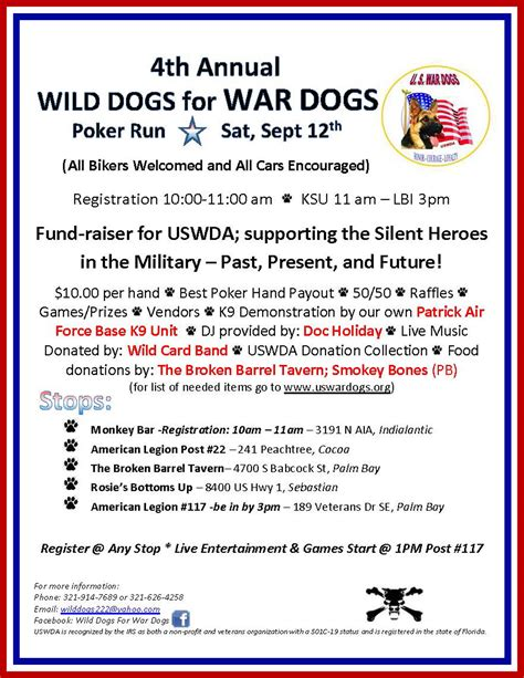 annual for dogs 4th annual dogs for war dogs american legion fl post 117