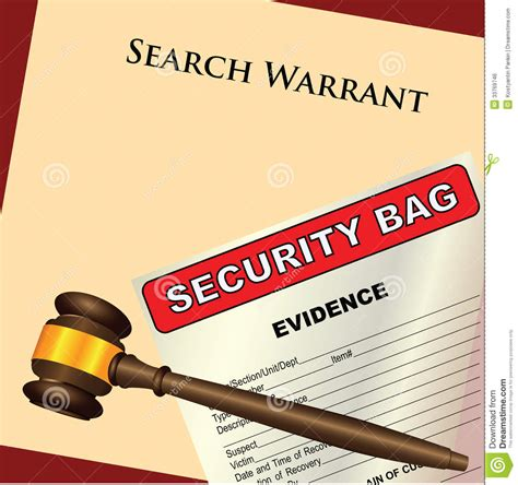 No Warrant No Search Search Warrant And Evidence Royalty Free Stock Image Image 33769746