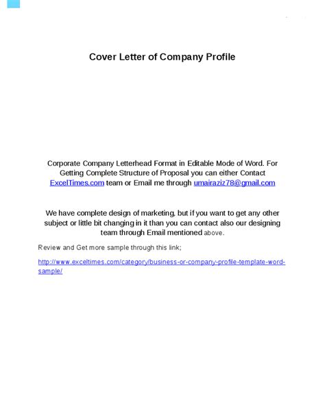 business profile word template company profile template in word format hashdoc