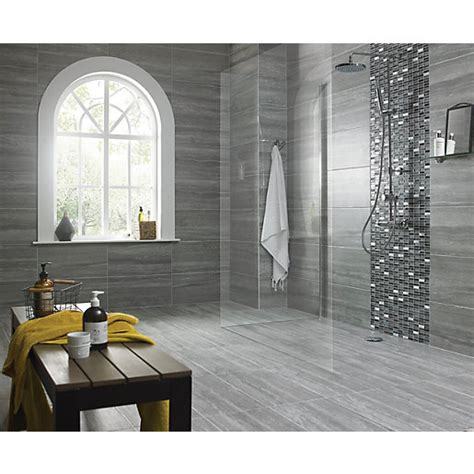 wickes everest slate porcelain tile   mm wickescouk