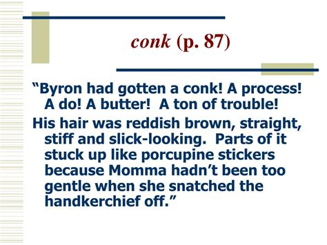 description of the conk hairstyle ppt the watsons go to birmingham 1963 powerpoint