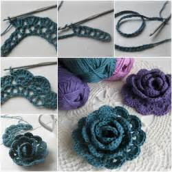 Crochet pretty 3d lace rose free pattern