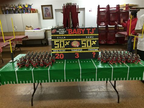 Football Baby Shower Favors by 49er Themed Baby Shower Scoreboard And Favors