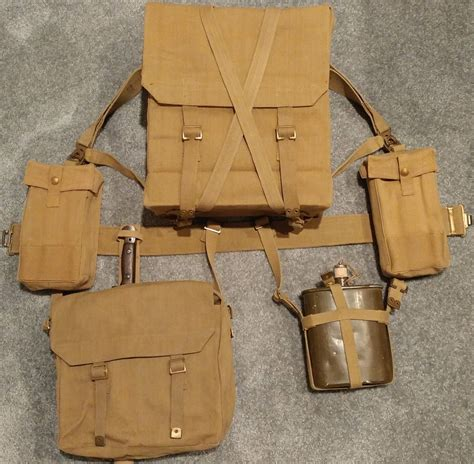 British 1937 Pattern Web Equipment | early war pattern 1937 webbing set british made