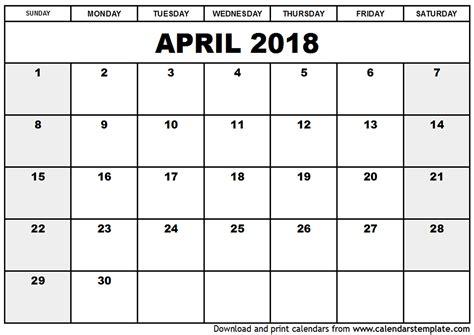 printable calendar 2018 april printable calendar march and april 2018 journalingsage com