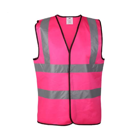 safety pink color pink color safety vest reflective armband
