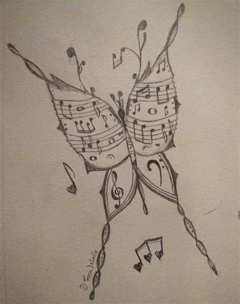 cool tattoo sketches and drawings musical butterfly my drawing art and pencil drawings