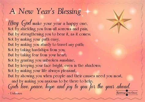 blessing    year ramblings   claury