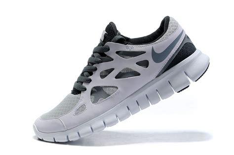 white black grey nike free run 2 couples running shoes