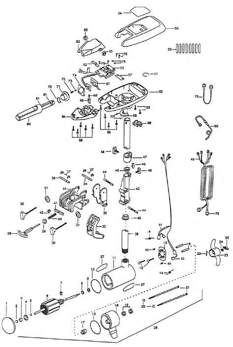minn kota trolling motor parts diagram minn kota riptide 70s parts 1998 from fish307