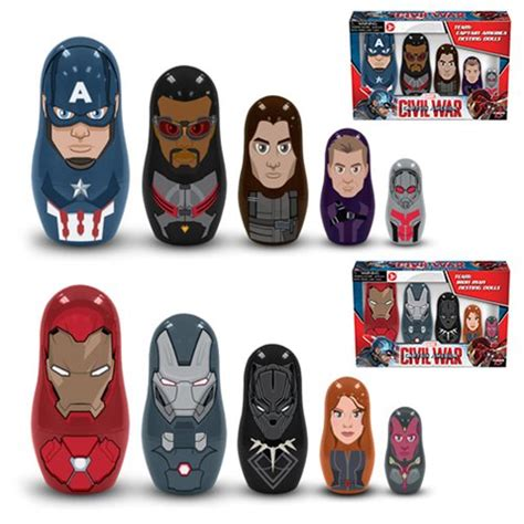 Kaos Harry Potter Brown captain america civil war nesting doll sets ppw toys
