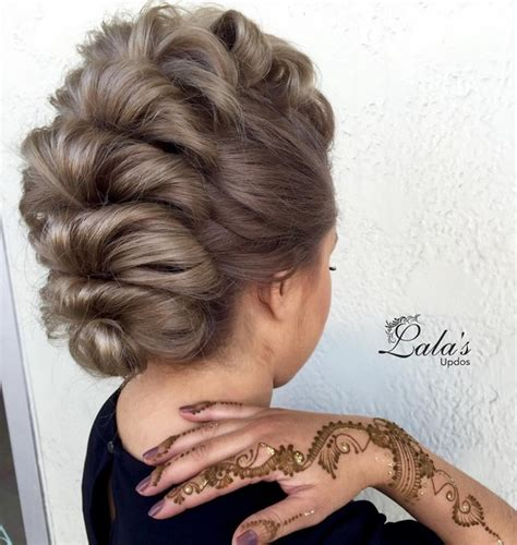 super trendy updo ideas  medium length hair